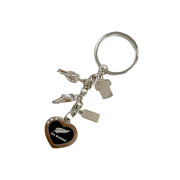 All Blacks Charm Keyring