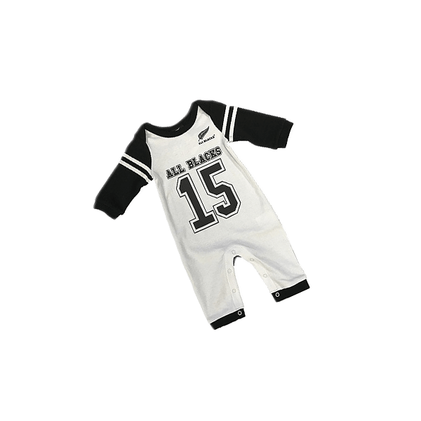 All Blacks Baby All In One #15 White