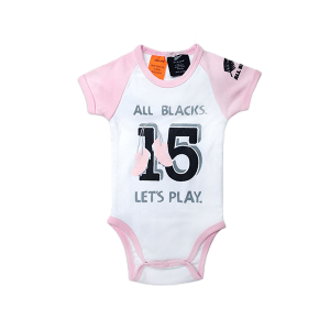 All Blacks Baby Bodysuit Pink