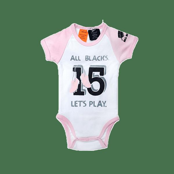 All Blacks Baby Bodysuit Pink