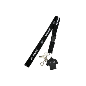 All Blacks Neck Strap Keyring