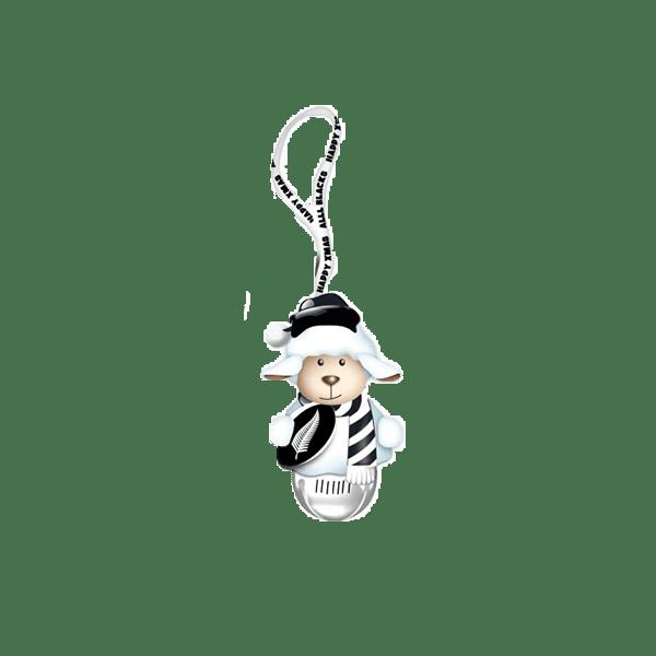 All Blacks Jingle Bell Sheep Ornament