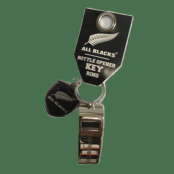 All Blacks Whistle Bottle Opener Keyring