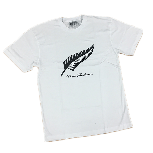 New Zealand Fern T Shirt White