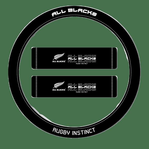 All Black Steering Wheel Cover