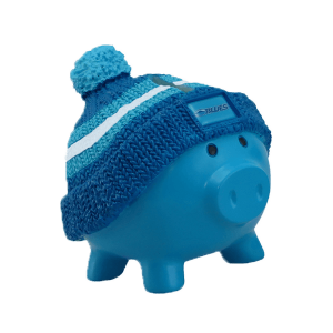 Blues Beanie Piggy Bank