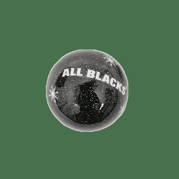 All Blacks Black Snowflake Ornament