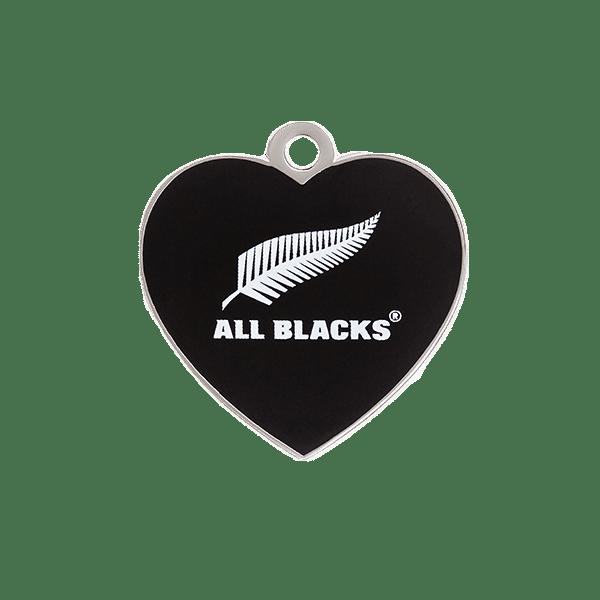 All Blacks Heart ID Tag