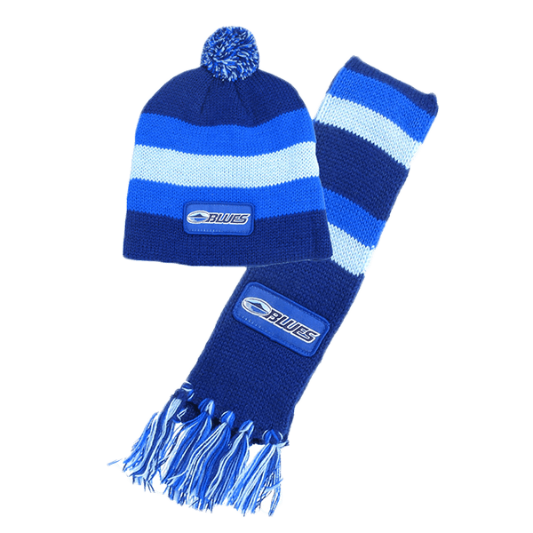 Blues Baby Beanie + Scarf Set
