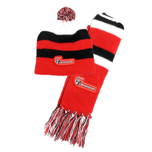 Crusaders Baby Beanie + Scarf Set