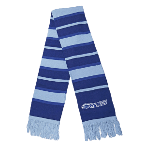 Blues Embroidered Striped Scarf