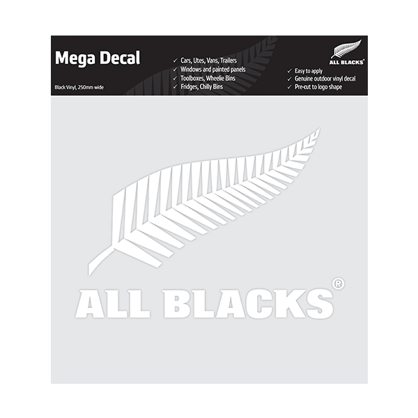 All Blacks Fern Mega Decal White