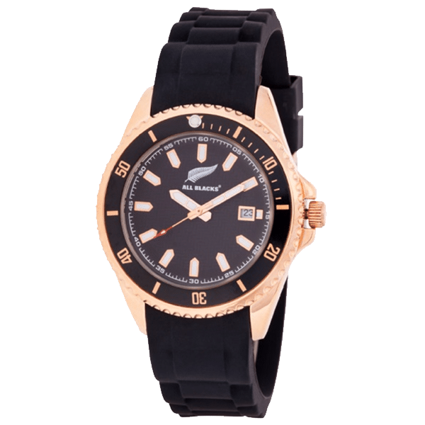 All Blacks Analog Rose Gold