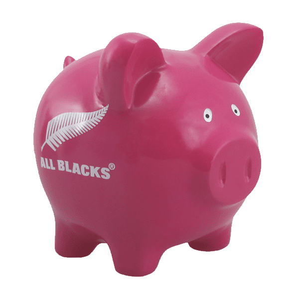 All Blacks Pink Piggybank