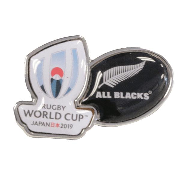 All Blacks RWC Logo Pin