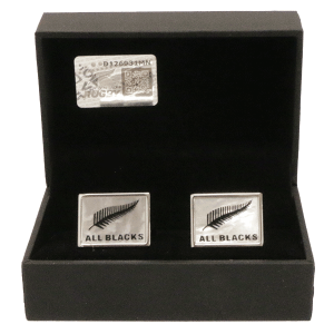 All Blacks Sterling Silver Fern (MOP) Cufflinks