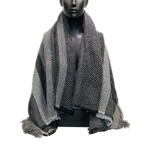 All Blacks Charcoal Merino & Lamb Wool Throw